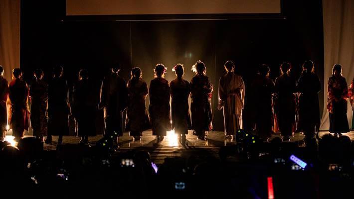 ファッションリーダーズの京都さがの館ランウェイ開始画像