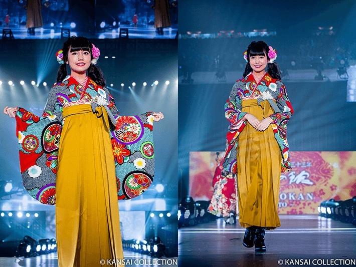 関西コレクション出場、長久玲奈の袴姿が可愛い