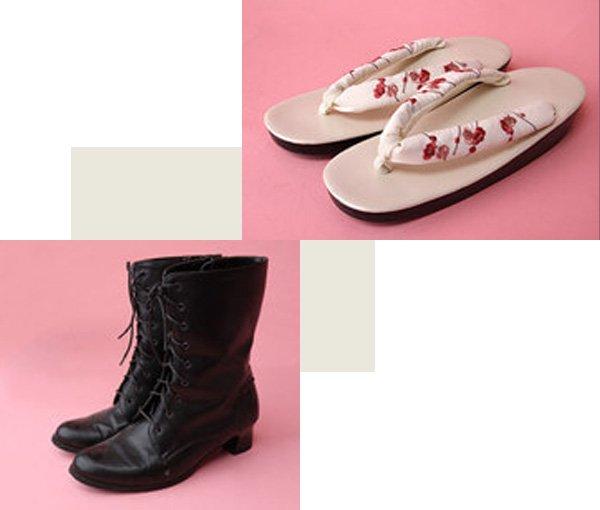 草履 or ブーツ