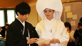 2 時雨殿にて神式挙式