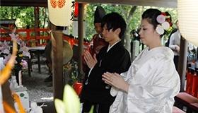 4 野宮神社本殿に参拝・祈祷