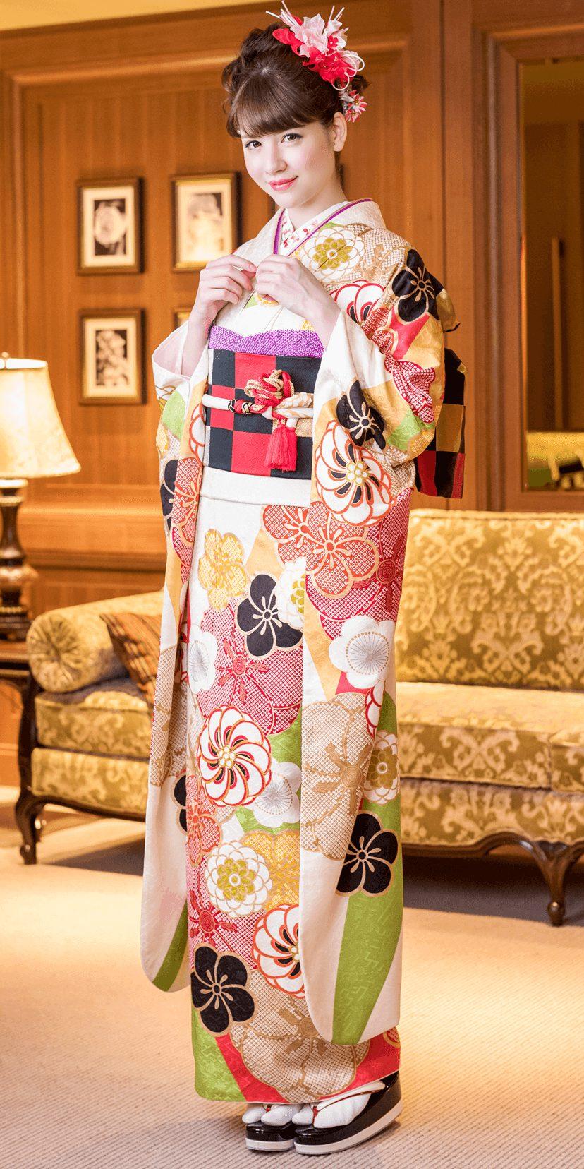 クリーム地大菊桜[FFR758]
