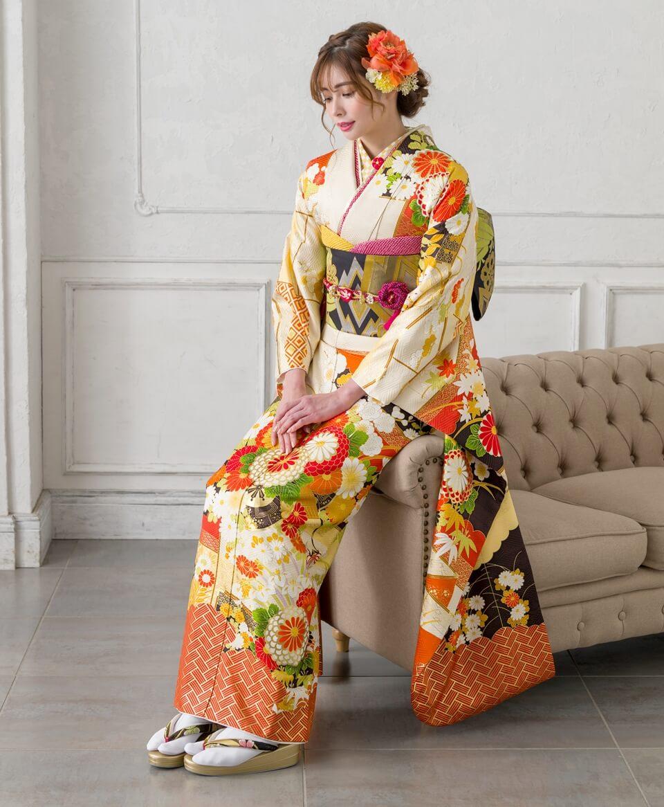 黄色とオレンジのビタミンカラーは、ハツラツとした印象を与えます。