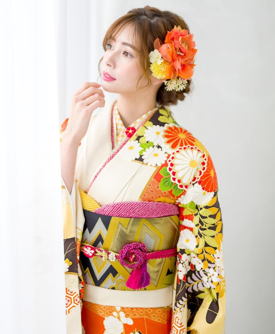丸菊はかわいらしい雰囲気にピッタリ。