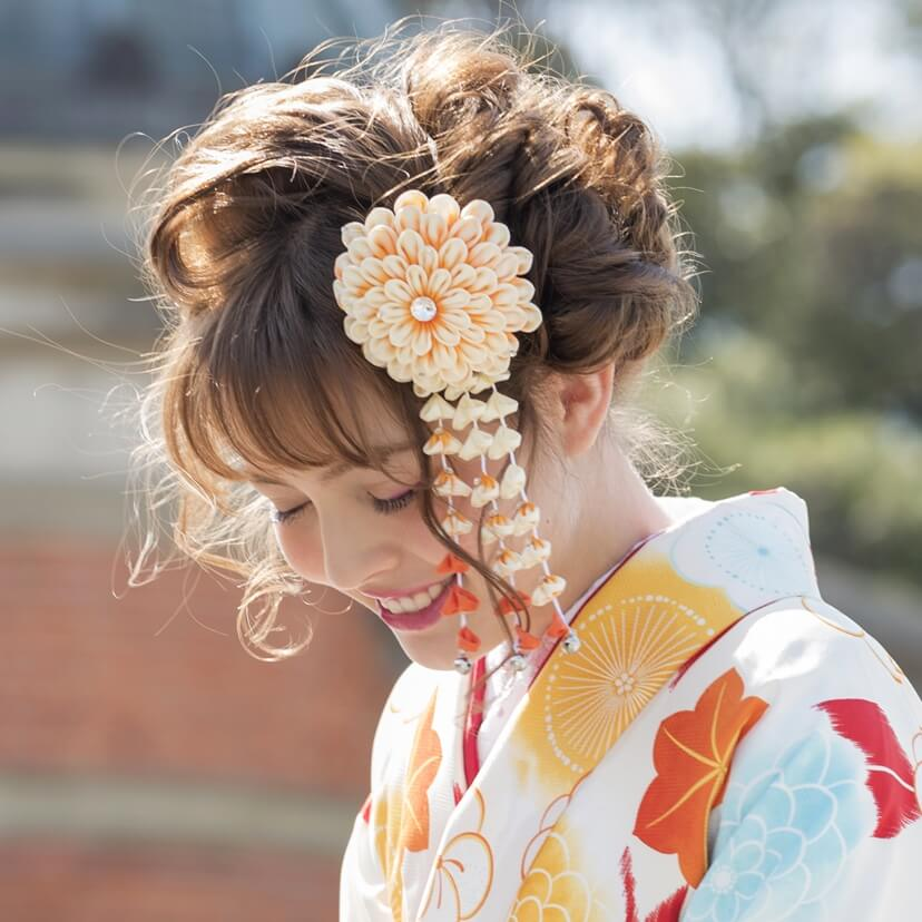 日本髪風モダンヘア