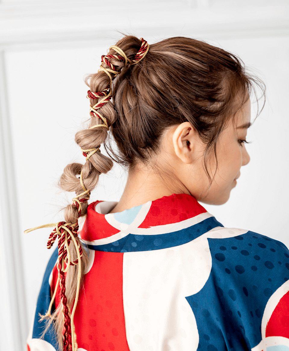 明快なコントラストの卒業式袴にピッタリな活発なヘアスタイル