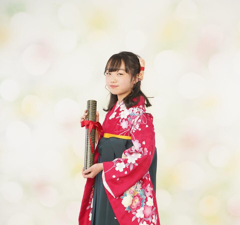 小学生向け卒業式の袴レンタルプラン