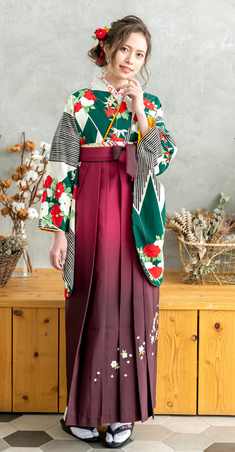京都さがの館の新作レンタル袴