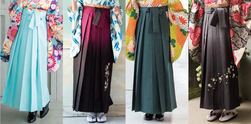 卒業式で着る4種類の袴